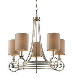 ELK Lighting Lighting 31006-5 New York Five Light Chandelier In Renaissance Silver