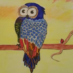 Owl drawing  My Drawings, Owl, Painting, Painting Art, Owls, Paintings, Painted Canvas, Drawings