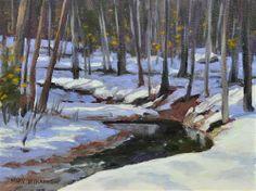 """Shadows and Snow"" - Original Fine Art for Sale - � Mary Byrom"