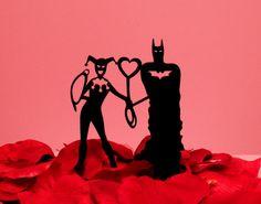 Harley and Batman topper