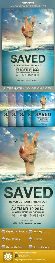 Saved Church Flyer Template ~ $6