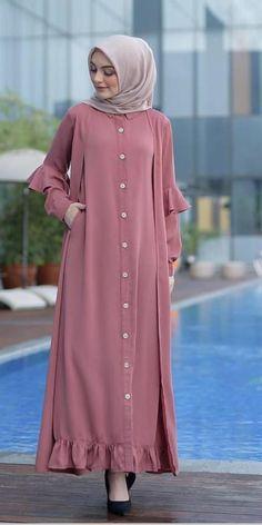 Modern Hijab Fashion, Muslim Women Fashion, Abaya Fashion, Abaya Mode, Mode Hijab, Abaya Designs, Muslimah Clothing, Dress Muslimah, Habits Musulmans