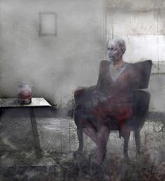 "Mania Efstathiou, ""Mental fugue"", digitally generated image on plexi Solitude, Plexus Products, Batman, Superhero, Digital, Edward Hopper, Painting, Image, Greece"