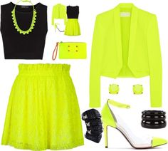 """""""Bright Neon"""" by carolwatergirl on Polyvore"""