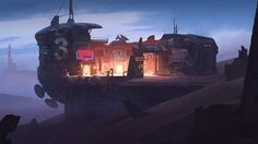 Three Pistons Lodge by artofjokinen | Digital Art / Drawings & Paintings / Sci-Fi | Post-Apocalyptic Concept