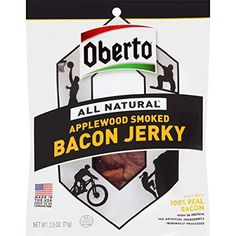 Oberto All Natural Applewood Smoked Bacon Jerky 25 Ounce * BEST VALUE BUY on Amazon #GourmetBacon