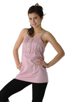 RF Radiation Protection Maternity Clothes, Camisole Tank with Radiation Shielding, 50% Silver-Nylon Fabric, Pink, Dress Code 8920220, $129.98