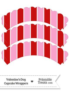 Valentines Day Scalloped Cupcake Wrappers from PrintableTreats.com