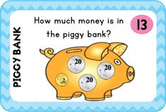 This is a set of 32 Australian coin task cards. On each task card, students count how much money is in the piggy bank. Up to 4 coins are included in each piggy bank with values not exceeding $6. A recording sheet and answer key are included. This activity is great for