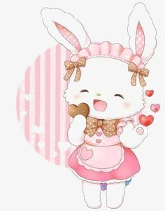 very cute kawaii bunny Art Kawaii, Arte Do Kawaii, Kawaii Bunny, Kawaii Chibi, Cute Chibi, Cute Bunny, Illustration Mignonne, Cute Illustration, Bunny Images