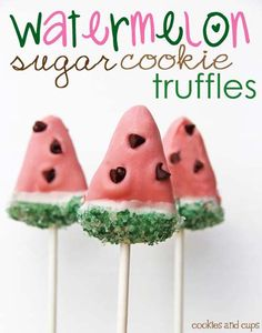 Watermelon Sugar Cookie Truffles @ Cookies & Cups, guest post @ Sugarbelle's, but pics broken on that post.