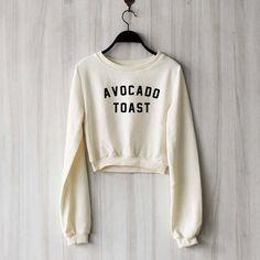 7a593209342378 AVOCADO TOAST CROP TOP - LA based Vegan Boutique – FruitySOCKY!™