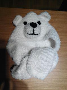 Gorro de oso bebe