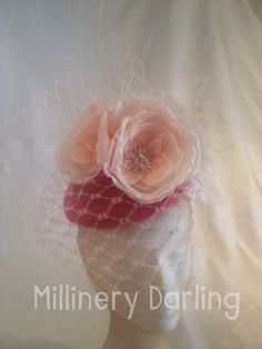 Pink felt fascinator AW2015-3 For Sale $200 + p&h Go to my Facebook page & Comment 'Sold' against this item. & PM me your email & postal address. #millinery #millinerydarling #racingfashion
