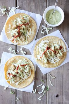 Crispy cauliflower tacos with tangy dill crema