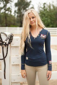 Dressage - Navy Henley