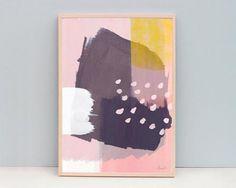 AMMIKI | ABSTRACT WINTER LIFE (pink) | A3 アートプリント/ポスター - HAFEN ハーフェン | 北欧・ヨーロッパの雑貨・ポスターを扱う通販ショップ