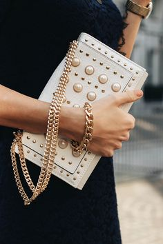 Pearls + gold.