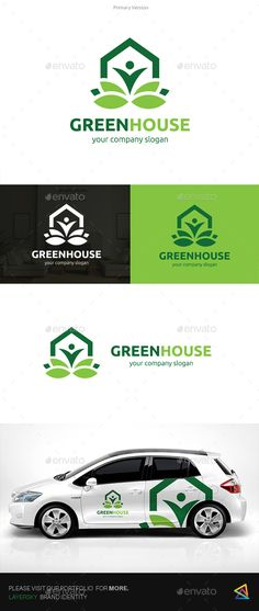 Green House Logo Template Vector EPS, AI Illustrator. Download here: https://graphicriver.net/item/green-house-logo/17557696?ref=ksioks