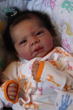 Reborn Baby Girl Doll Michelle by Evelina Wosnjuk Newborn