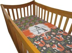 Fox Trail Floral Custom Crib Comforter / Quilt