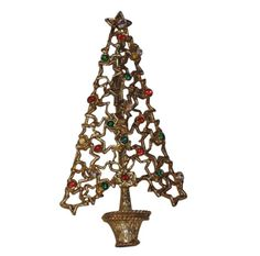 Tancer II Cut-Out Stars Christmas Tree Pin RARE Book Piece