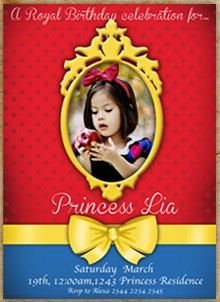 Snow White photo Invitations with FREE Return by InvitesLaVue, $1.25