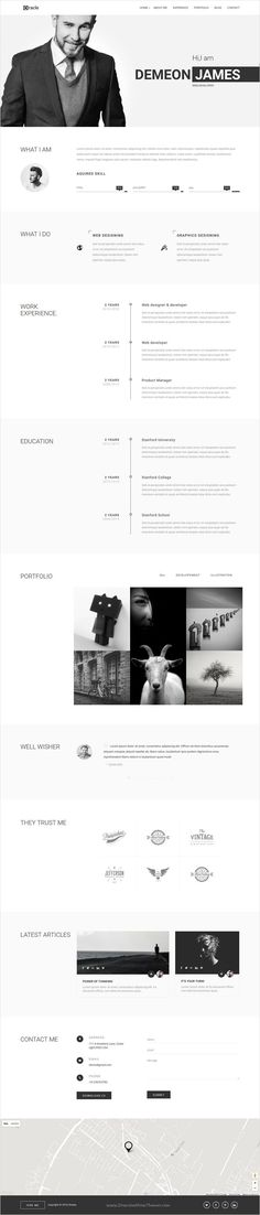 Template 51090 - Photographer CV Responsive WordPress Theme - resume template website