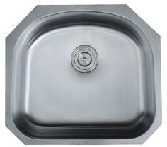 """Emmaus 23.25"""" x 20.88"""" Undermount Single Bowl Kitchen Sink"""