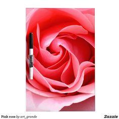 Pink rose dry erase board