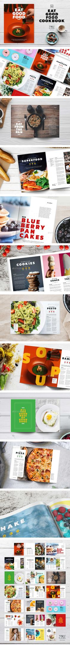 Buy Eat Good Food Cookbook Template by Wolfgang-Design on GraphicRiver. Eat Good Food Cookbook Eat Good Food is a modern cookbook template, designed so you can build your own creative doc. Cookbook Template, Food Template, Modern Cookbooks, Food Catalog, Brochure Food, Catalogue Layout, Shops, Magazine Layout Design, Catalog Design