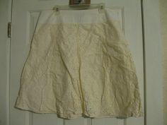 Women's Skirt Lace White Axcess Liz Claiborne 16  #LizClaiborne #ALine