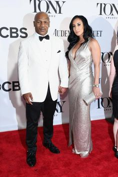 Mike Tyson and his wife Lakiah Spicer at The Tonys