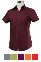 Women's Chef Shirt - New Colors! from Best Buy Uniforms. To see more women's chef uniforms click here http://www.bestbuyuniforms.com/chef-chef-uniforms-for-women/653-womens-chef-shirt---new-colors.html