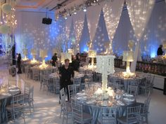 Our wedding will not be SO decked out but consider the blue lighting for reception
