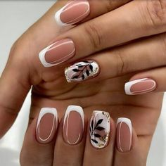 Chic Nails, Stylish Nails, Trendy Nails, Oval Nails, Pink Nails, Feather Nails, Nagel Hacks, Minimalist Nails, Best Acrylic Nails