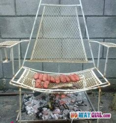 for primitive camping...ok, so I know I have to try this and get it out of my system! clever...hahaha
