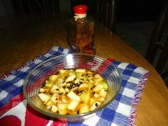 Apple and banana chaat