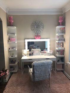 GoddessLeach Glam Room, Dressing Room, Dressing Table, Vanity For Makeup, Makeup Vanities, Beauty Vanity, Beauty Makeup, Eye Makeup, Vanity Ideas
