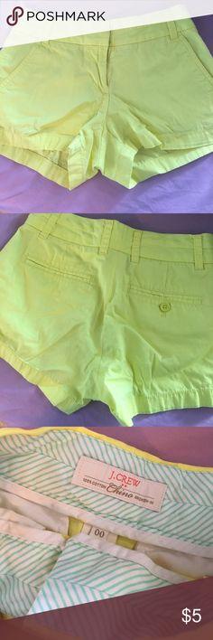 J Crew Shorts Perfect condition J Crew yellow shorts J. Crew Shorts Jean Shorts