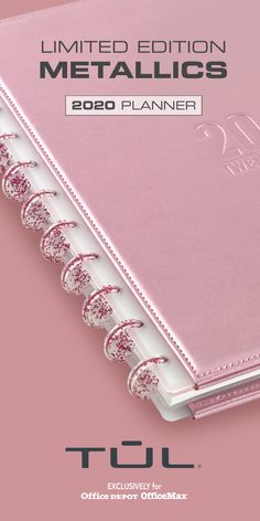Start 2020 with a TUL Millennium Pink Planner. Customize, organize and optimize your year. Pink Planner, Happy Planner, Discbound Planner, School Planner, Day Planners, Planner Organization, Leather Cover, Creative Gifts, Getting Organized