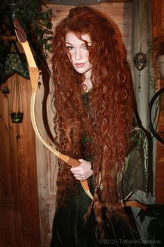 """So… I watched 'Brave' again today, and went all berserker with all my curling irons! ;D Simply had to do a wee Merida inspired shoot ;)Thinking of making this my next cosplay!"""