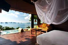 """Six Senses Yao Noi, Thailand. We just had to include this resort in our recent Thailand trip. Six Senses Yao Noi seduces with the brand's well-rehearsed """"rustic luxury chic"""" style and makes a great. Bali Lombok, Hotels And Resorts, Best Hotels, Great View, Belle Photo, Dream Vacations, Trip Advisor, Places To Go, Beautiful Places"""