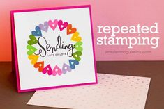 Video: Repeated Stamping Video | Jennifer McGuire Ink - Great tutorial for cards design  make great art your gifts