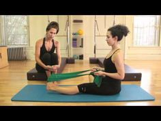 Pilates exercises for healthy, flexible feet and ankles. Only equipment needed is a theraband.