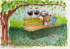 Under the shade of the big big tree, no better place for a story indeed! Lucia Stewart