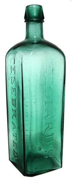 """LEDIARD'S CELEBRATED STOMACH BITTERS. 10 ¼"""". L 60. Applied top, smooth base. -"""