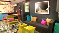 Black chalkboard paint is one of Tyler Wisler's (Season 6) favorite wall colors. His room was featured last year on the HGTV Design Happens Blog #hgtvstar http://blog.hgtv.com/design/2012/10/19/paint-color-sos?soc=pinterestdb