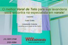 Twitter  Varal de Teto Sóvarais (11) 3231-3144 - 3151-5284  http://www.sovarais.com.br/loja   #promoção #ofertas #sovarais #varais #varal