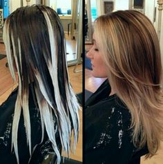 Take note, my perfect pattern for the perfect Balayage.  Flawless